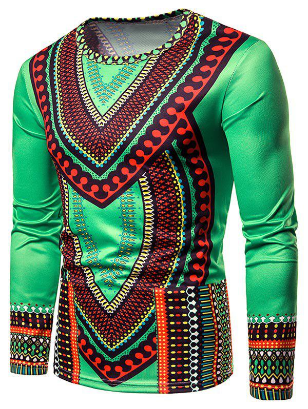 Outfits Ethnic Print Long Sleeve T-shirt