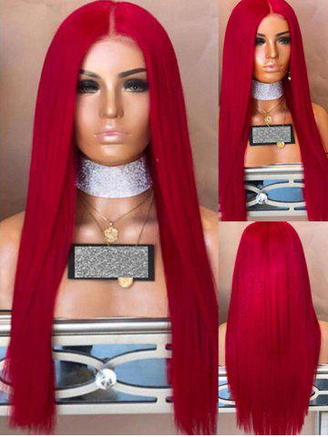 Long Center Parting Straight Synthetic Party Wig
