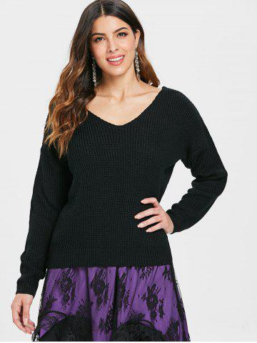 Criss Cross Back Pullover Sweater