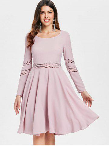 Lace Crochet Fit and Flare Dress