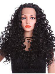 Long Free Part Deep Culry Lace Front Synthetic Wig -
