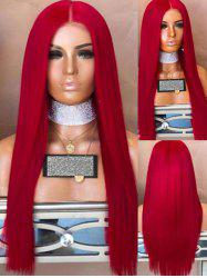 Long Center Parting Straight Synthetic Party Wig -