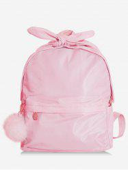 Fluffy Ball Front Zip Pocket Backpack -