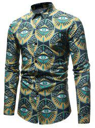 Eyes Pattern Button Up Shirt -