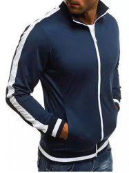 Stripe Sleeve Casual Activewear Jacket -