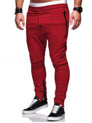 Zip Hem Design Pockets Jogger Pants -