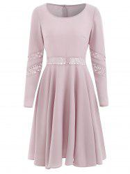 Lace Crochet Fit and Flare Dress -