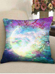 Galaxy Moon Double-side Print Decorative Sofa Pillowcase -