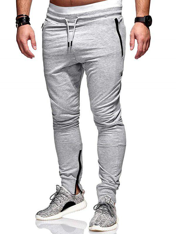 Discount Zip Hem Design Pockets Jogger Pants
