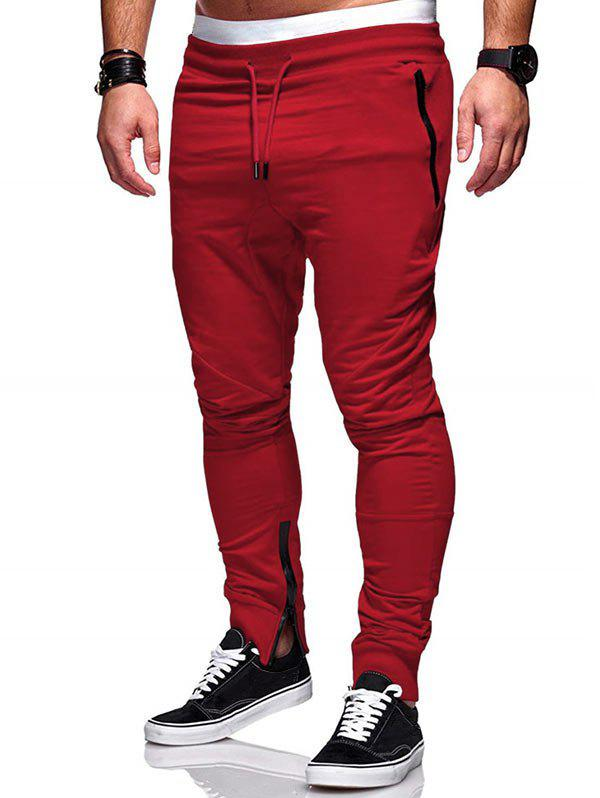 Shop Zip Hem Design Pockets Jogger Pants