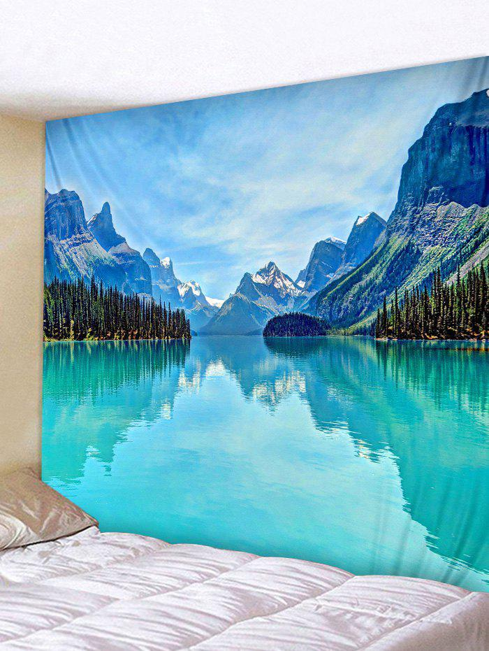 Latest Wall Hanging Art Mountains Lake Print Tapestry