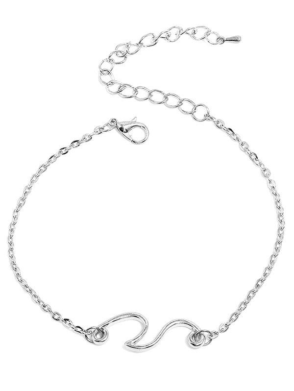 Fancy Beach Wave Chain Anklet
