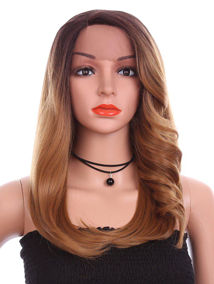 Shops Long Side Parting Tail Adduction Straight Colormix Synthetic Lace Front Wig
