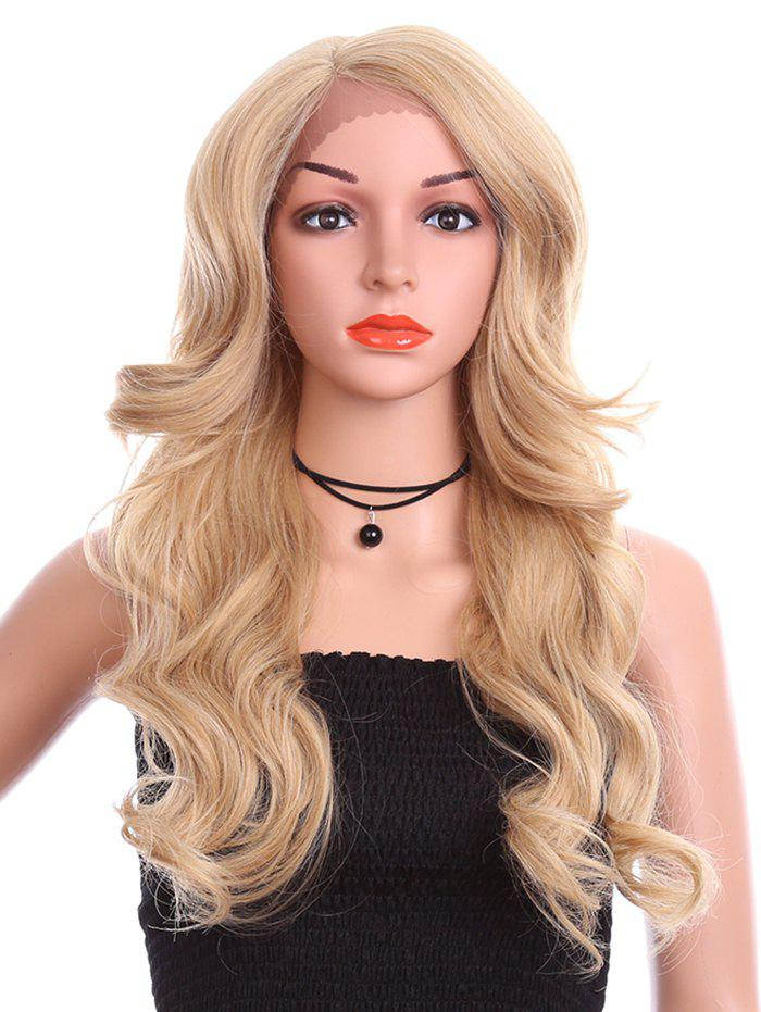 Hot Long Side Parting Wavy Synthetic Lace Front Wig