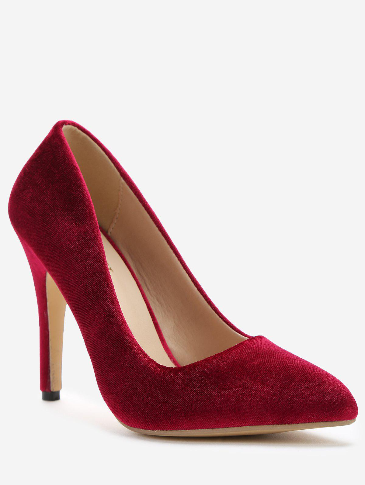 New Slip-on Stiletto Heel Suede Pumps