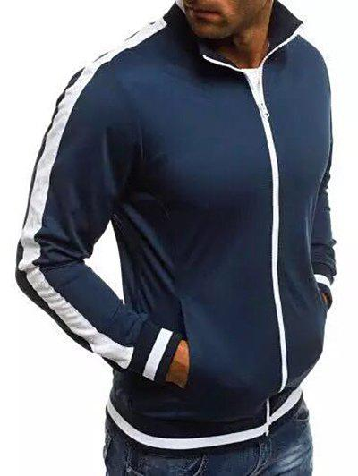 Affordable Stripe Sleeve Casual Activewear Jacket