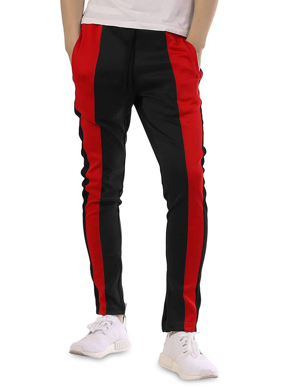 Chic Casual Color Block Patchwork Track Pants
