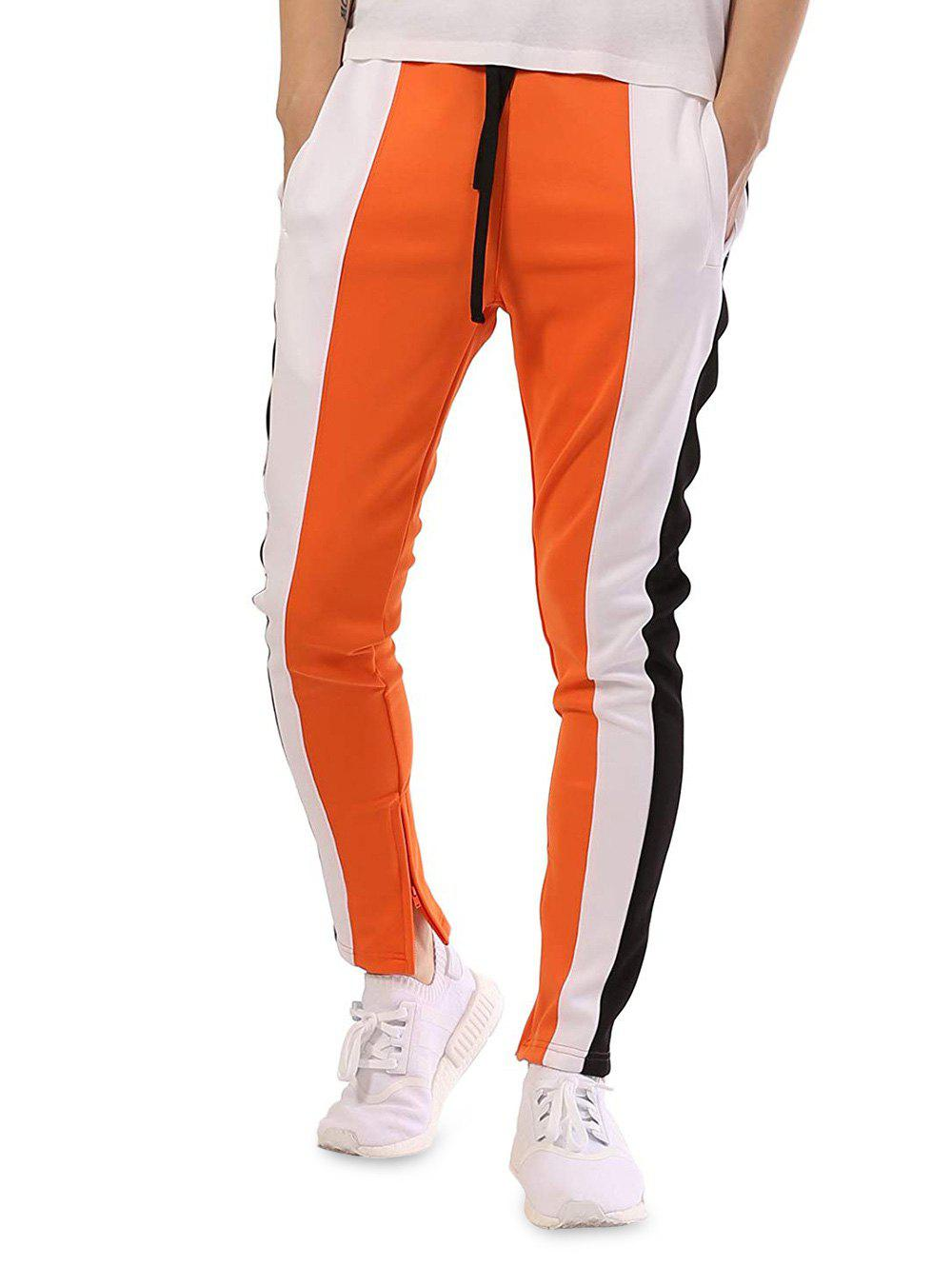 Unique Casual Color Block Patchwork Track Pants