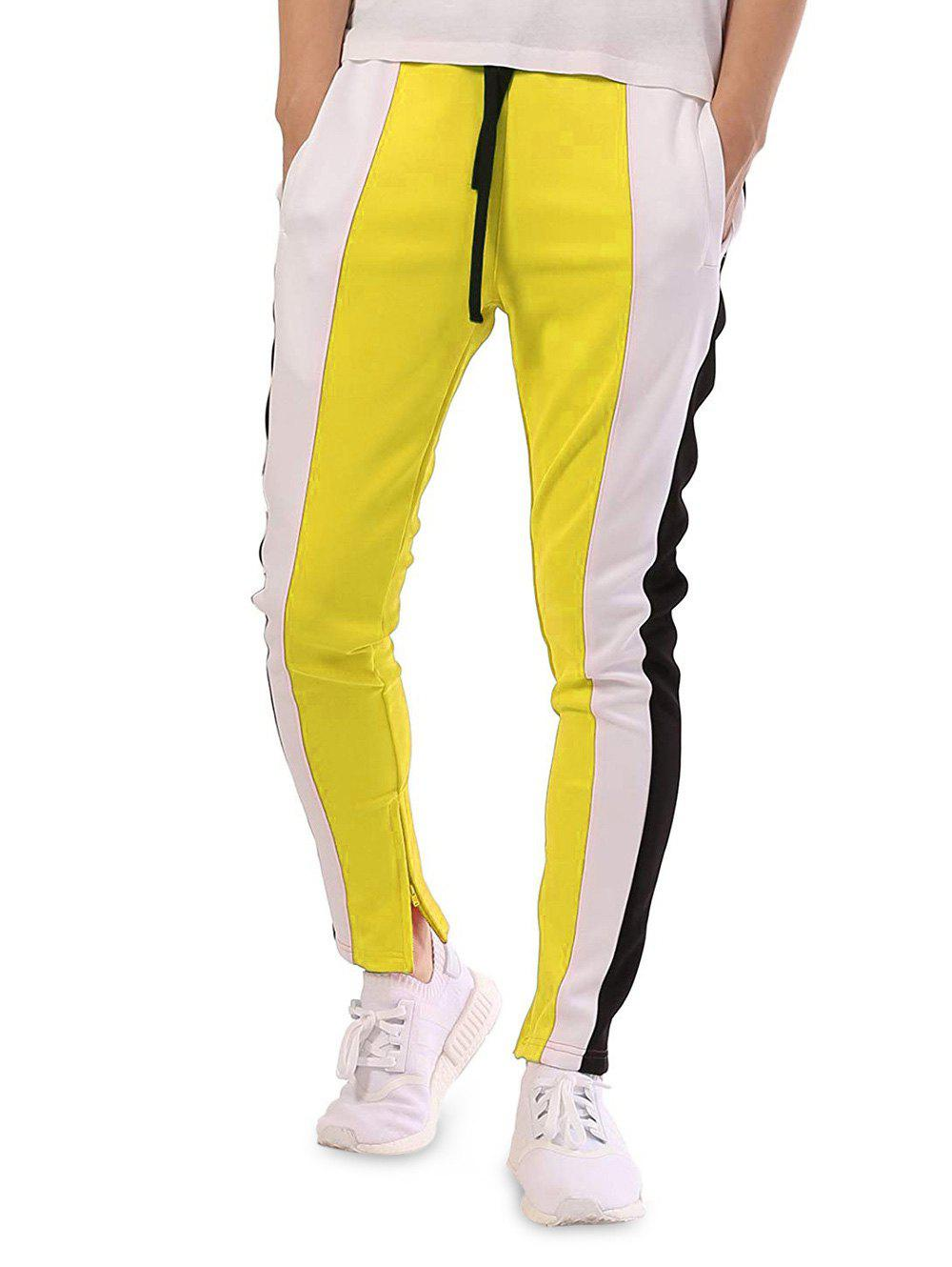 Fashion Casual Color Block Patchwork Track Pants