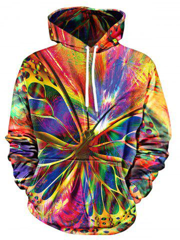 Butterfly Print Pullover Hoodie