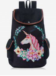 Unicorn Flap Travel Backpack -