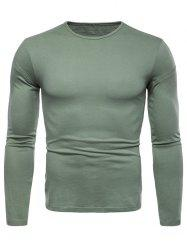 Solid Color Long Sleeve T-shirt -