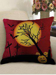 Halloween Moon Night Print Decorative Sofa Linen Pillowcase -