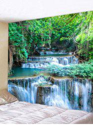 Wall Hanging Art Forest Waterfalls Print Tapestry -