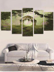 Unframed Forest Arch Printed Split Canvas Paintings -