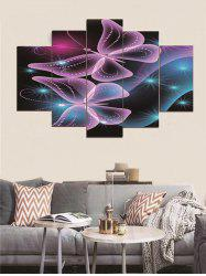 Butterfly Printed Split Canvas Paintings -