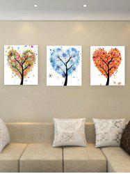 Unframed Heart Tree Theme Printed Canvas Paintings -