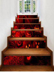 Halloween Pumpkins Pattern Decorative Stair Stickers -