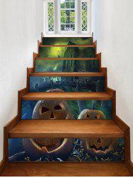 Halloween Night Castle Print Decorative Stair Stickers -
