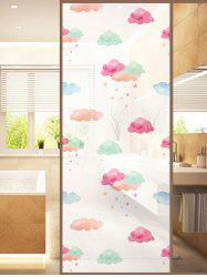 Frosted Clouds Glass Sticker for Window Bathroom -