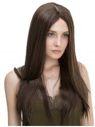 Center Parting Long Straight Capless Synthetic Wig -