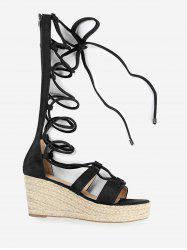 ZAFUL Lace Up Wedge Heel Sandals -
