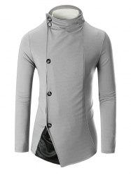 Single Breasted Stand Collar Panel Blazer -