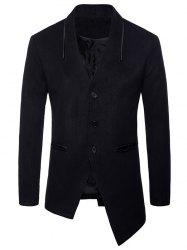 Asymmetric Collarless Single Breasted Blazer -