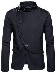 Slim Fit Stand Collar Button Design Blazer -