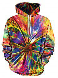 Butterfly Print Pullover Hoodie -