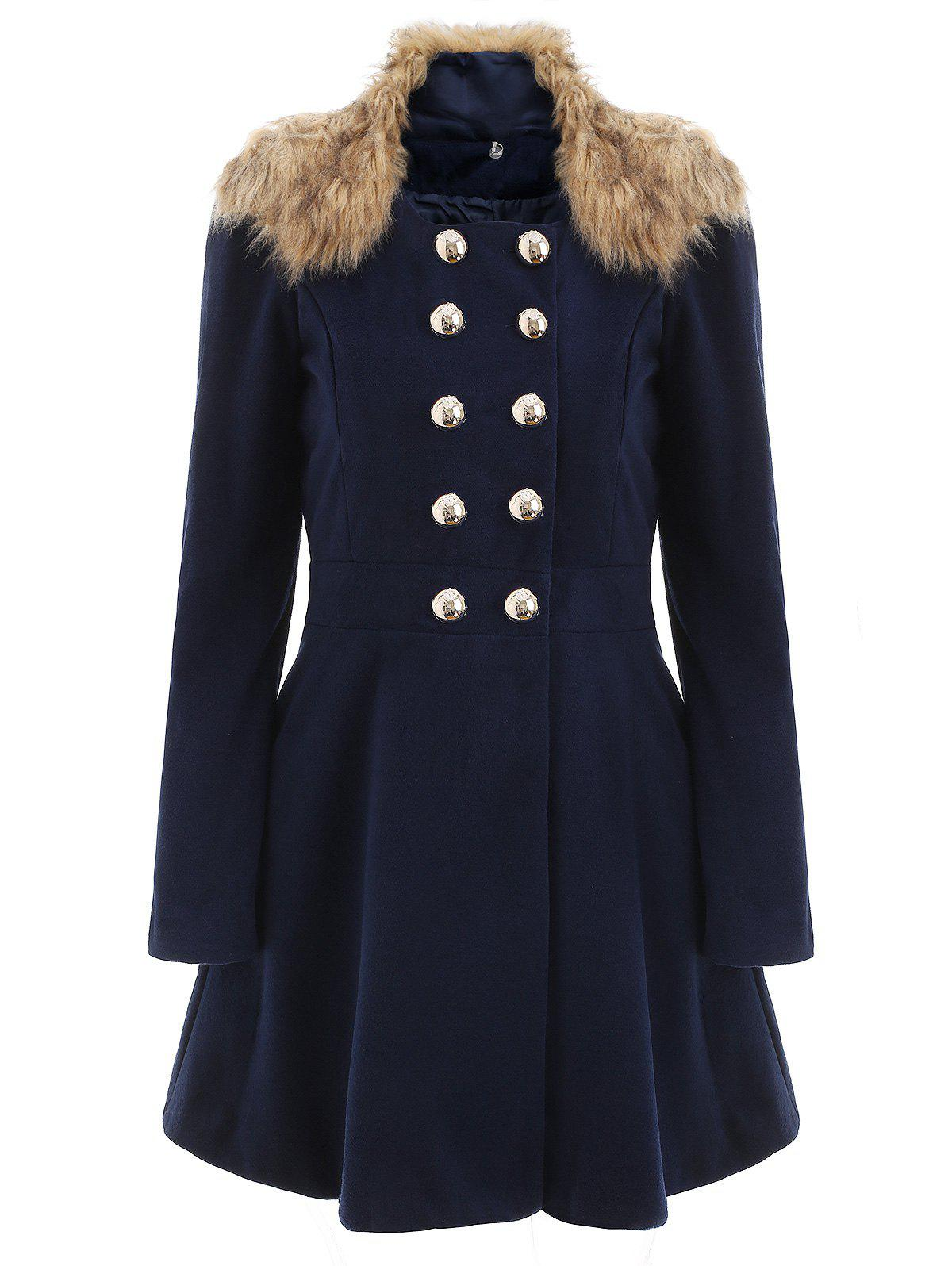 Outfit Women Woolen Winter Trench Double Button Coat