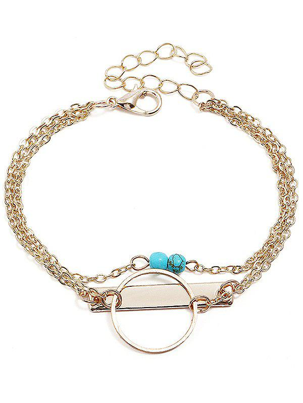 Chic Artificial Gem Geometric Shape Layer Bracelet