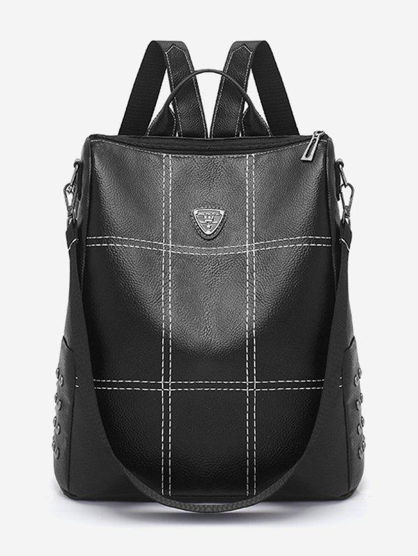 Buy Quilted PU Leather School Backpack