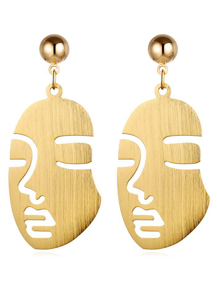 Affordable Vintage Human Face Alloy Punk Earrings