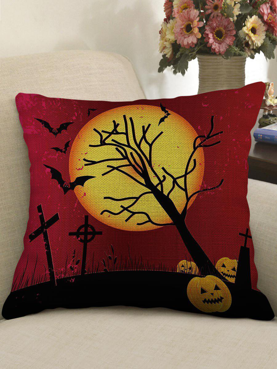 Store Halloween Moon Night Print Decorative Sofa Linen Pillowcase