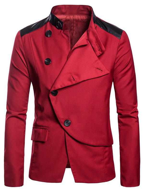 Affordable Slim Fit Stand Collar Button Design Blazer