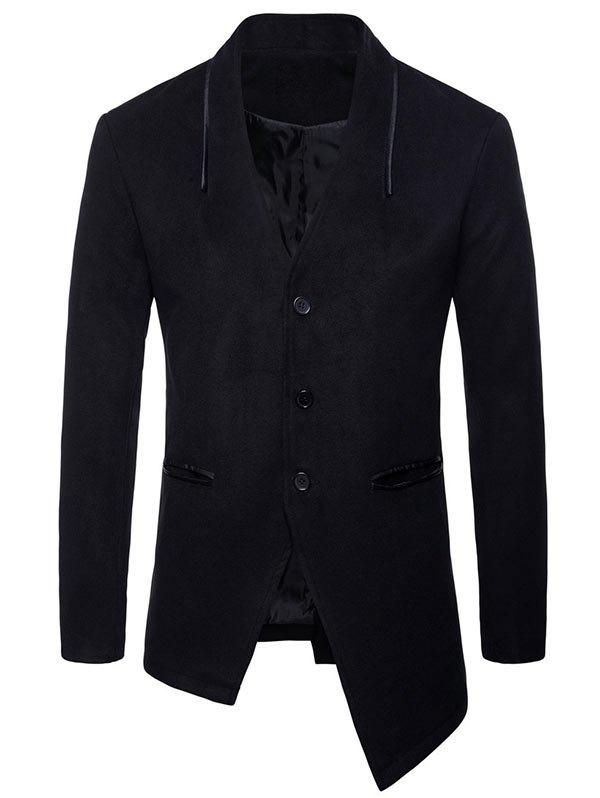Online Asymmetric Collarless Single Breasted Blazer