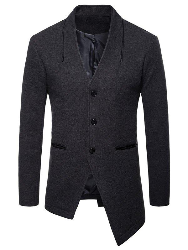 Affordable Asymmetric Collarless Single Breasted Blazer