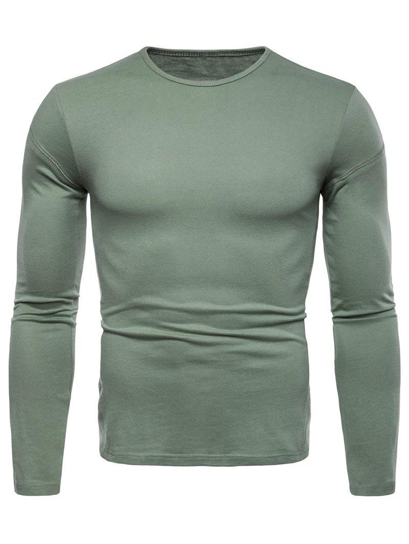 New Solid Color Long Sleeve T-shirt