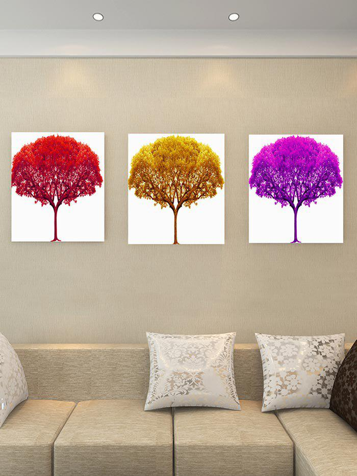 Unique Unframed Tree Theme Printed Canvas Paintings